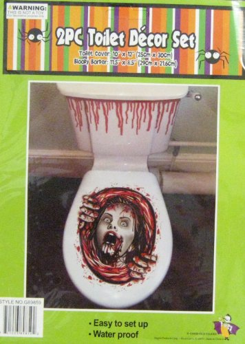Amazon com  2 Piece Halloween Toilet Decoration Set Creepy Girl with Hands  Toys  amp  Games. Amazon com  2 Piece Halloween Toilet Decoration Set Creepy Girl