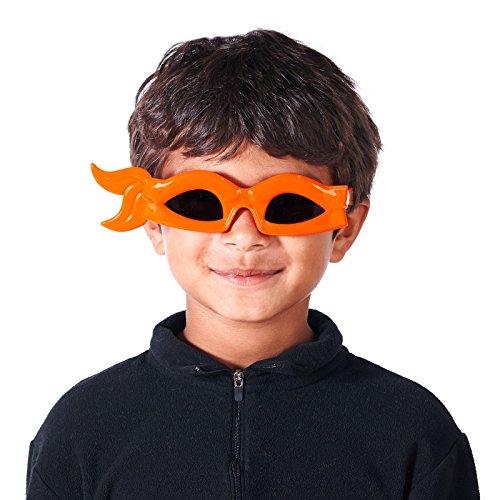 Sunstaches Teenage Mutant Ninja Turtles Orange Bandana Sunglasses, Party Favors, -