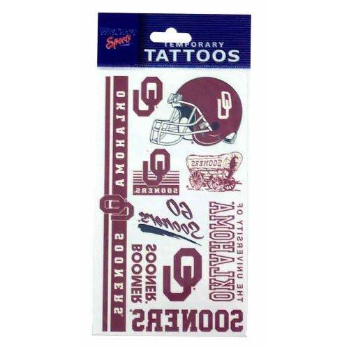 University of Oklahoma Norman OU Sooners -Temporary Face Tattoos - Multi Logo - Norman Sooners Apparel Oklahoma