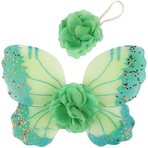 Jastore® Photo Prop Outfit Baby Girl Flower Angel Wing Costume with Headband (Color 5)