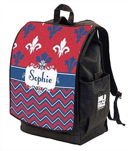 Patriotic Fleur de Lis Backpack w/Front Flap (Personalized) ()