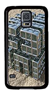 Samsung Galaxy S5 sell cover Abstract 3D Building Blocks PC Black Custom Samsung Galaxy S5 Case Cover