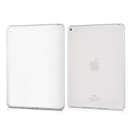 Cover en Negro//Transparente - Carcasa Trasera para Tablet de Silicona TPU kwmobile Funda para Apple iPad Air 3 2019