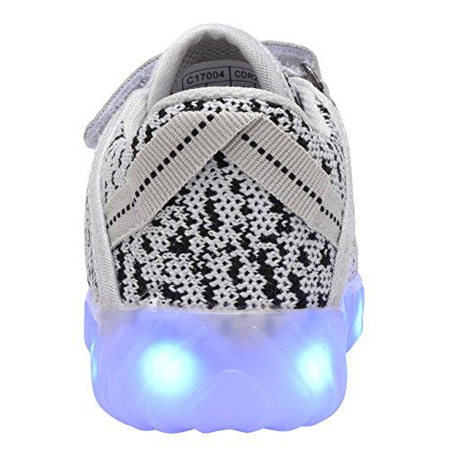 Coodo Kids Boys Girls Led Light Up Shoes Sneakers Lampeggianti (bambino / Figliata Bambini) 5-grigio