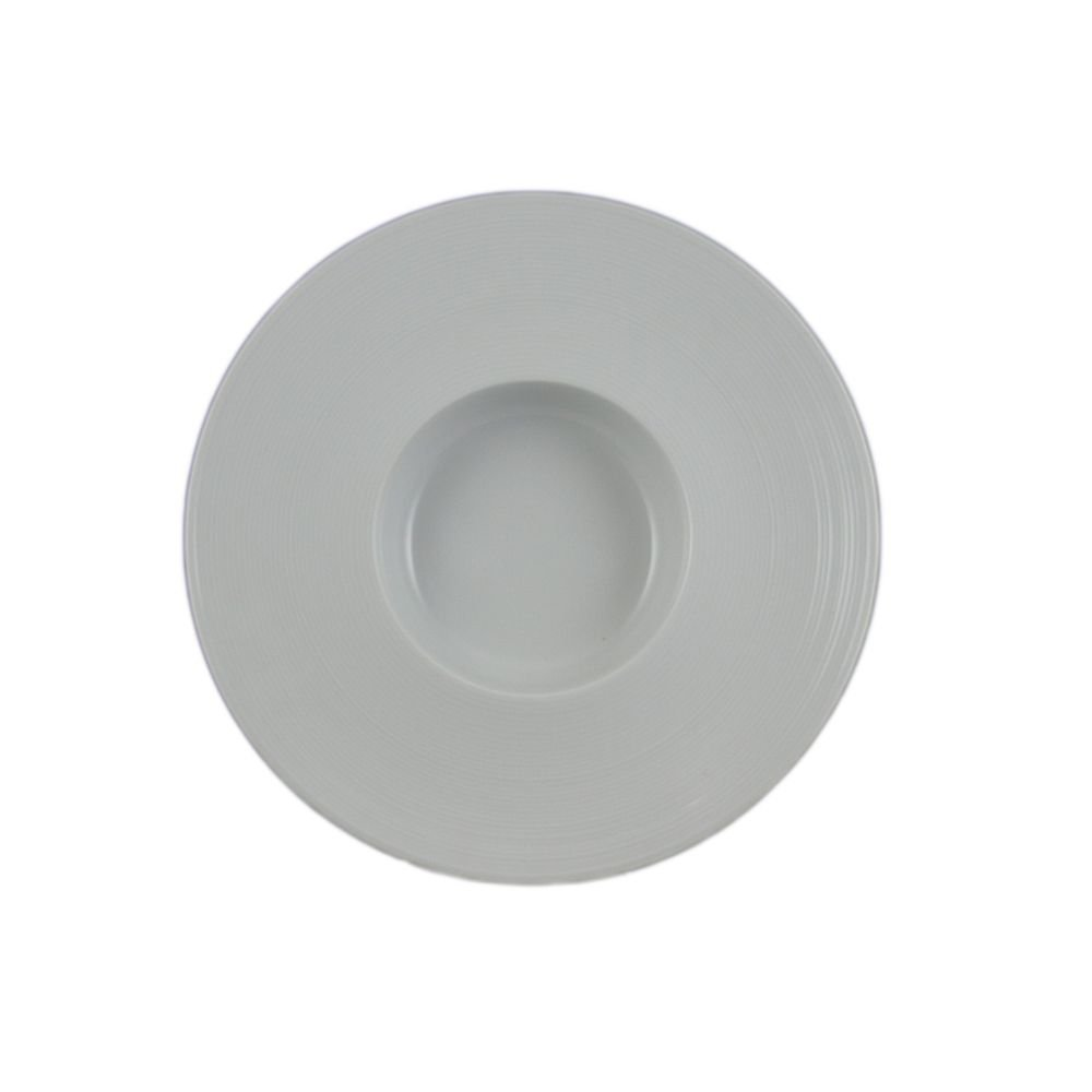 Vertex China RA-26 Radiance Deep Soup Maxxi Rim, 10-5/8'', 12 oz., Porcelain White (Pack of 12)