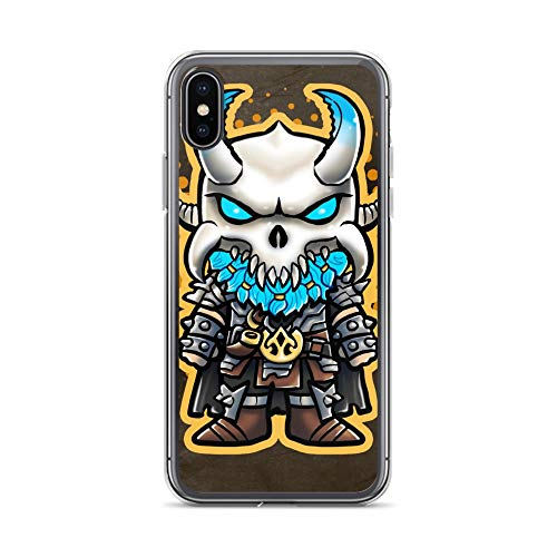 iPhone X/XS Case Anti-Scratch Animated Cartoon Transparent Cases Cover Soldier Video Game Chibi Style Cartoons Caricature Crystal Clear