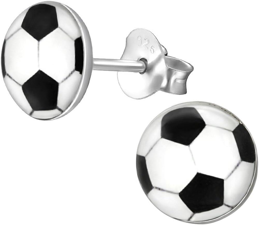 Laimons Kids Pendientes para niña Disco con forma de balón de ...
