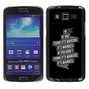 TopCaseStore / la caja del caucho duro de la cubierta de protección de la piel - It's Warded - Samsung Galaxy Grand 2 SM-G7102 SM-G7105