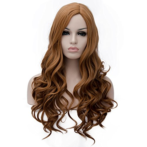 TopWigy 25.5'' 65CM Ladies Long Wavy Hair Wigs Synthetic ...