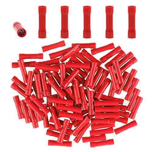- Glarks 100pcs 22-16 Gauge Butt Electrical Insulated Quick Splice Crimp Terminals Connectors