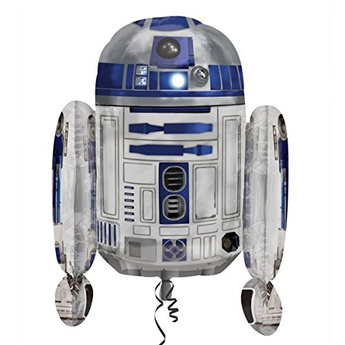 Star Wars Shaped Balloon - Anagram Star Wars R2-D2 Shaped Supershape Foil Helium Balloon