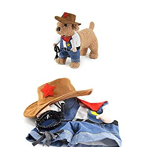 LOHOME Funny Pet Clothes - Pet Dog Cat Halloween Costume Pirate Suit Corsair Dressing up Adjustable Washable Comfortable Clothes Dress for Halloween Christmas Easter Festival Party Activity (# 5)