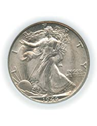 Count of 5 - Walking Liberty Half Dollar XF/VF Condition 90% Silver Extra Fine to Very Fine