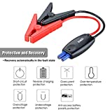 Suaoki Intelligent Alligator Clamps Smart Jumper Cables with Car Battery Charger Clamps Emergency Jump Starter Kit for 12V Vehicle Battery