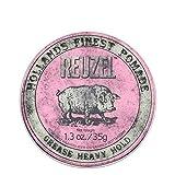 REUZEL Grease Heavy Hold Pomade Piglet, Pink, 1.3 oz