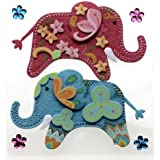 Jolee's Boutique Dimensional Stickers, Stitched Elephants