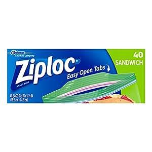 Ziploc Sandwich Bag, 40 Count