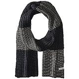 Perry Ellis Men's Birdseye Knit Scarf, black, One Size