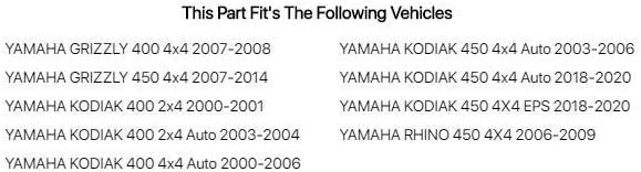 Yamaha Kodiak 400 4x4 Auto 2000-2006 Fits Tusk Top End Gasket Kit