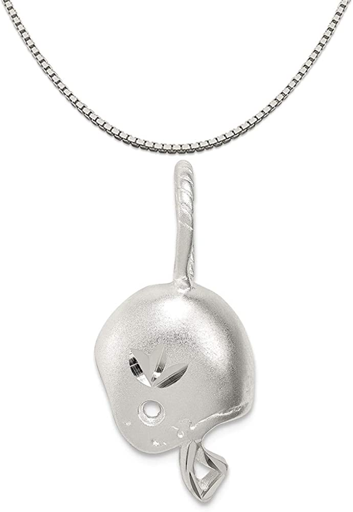 16-20 Mireval Sterling Silver Antiqued Fancy Key Charm on a Sterling Silver Chain Necklace