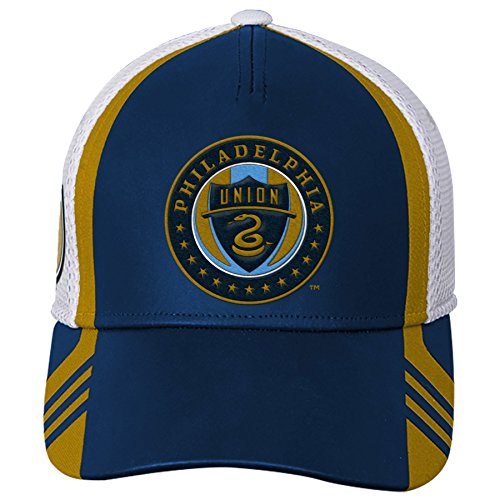 brand new 23773 f37fd OuterStuff MLS Philadelphia Union Boys Structured Flex Hat, Dark Navy, One  Size
