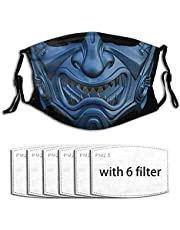 LINJIN Movie Fighting Face Mask Reusable Washable Adjustable With 6 Filters Mouth Cover For Men'S Women'S