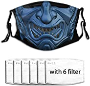 LINJIN Movie Fighting Face Mask Reusable Washable Adjustable With 6 Filters Mouth Cover For Men'S Wom