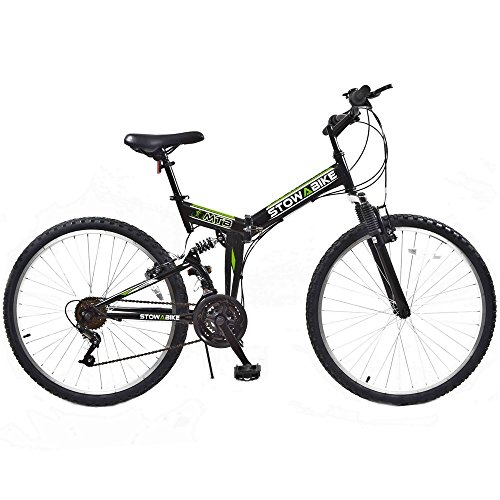Stowabike 26' MTB V2 Folding Dual Suspension 18 Speed Shimano Gears Mountain Bike
