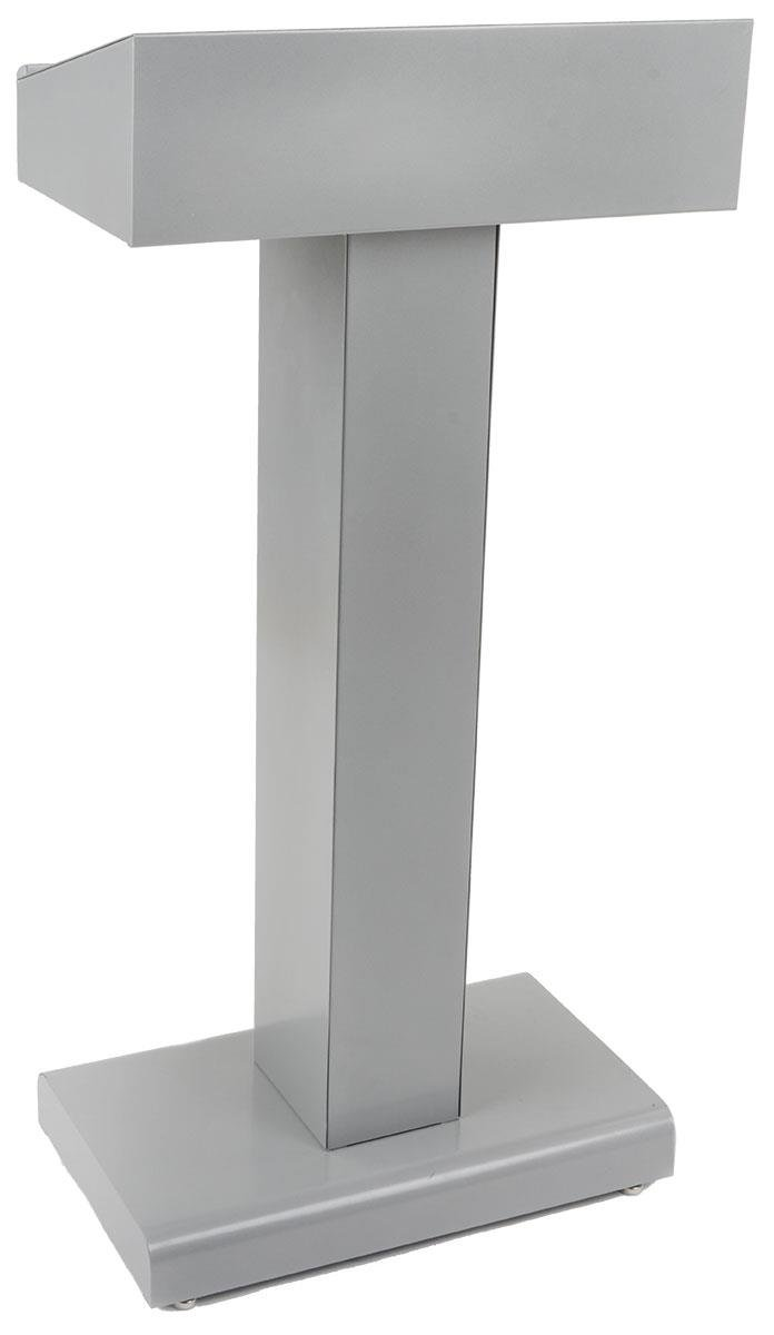 23'' Pedestal Podium for Floor, with Open Storage Area, Steel (Silver)