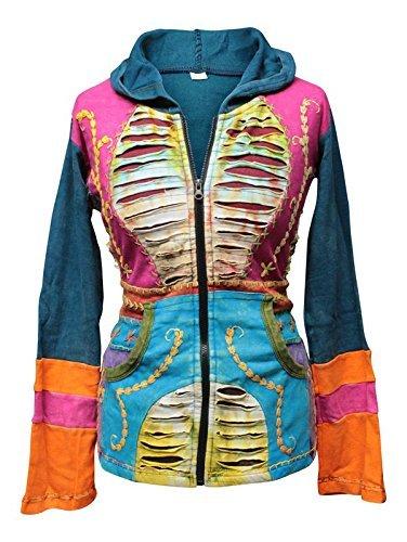 Shopoholic De Moda Para Dama Rasgada Capas Hippie Con ...