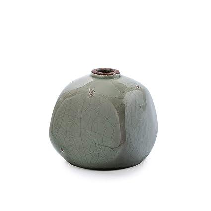 regard détaillé haute couture meilleur prix Black Velvet Studio Vase décoratif en céramique Gris - Vase Modern Vintage  pour la Maison Bureau Salle de réunion modèle Ethnique Athènes 10 * 10 * ...