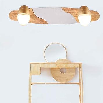 Sed Miroir De Bain Lampes Bois Massif Moderne Simple Led Miroir