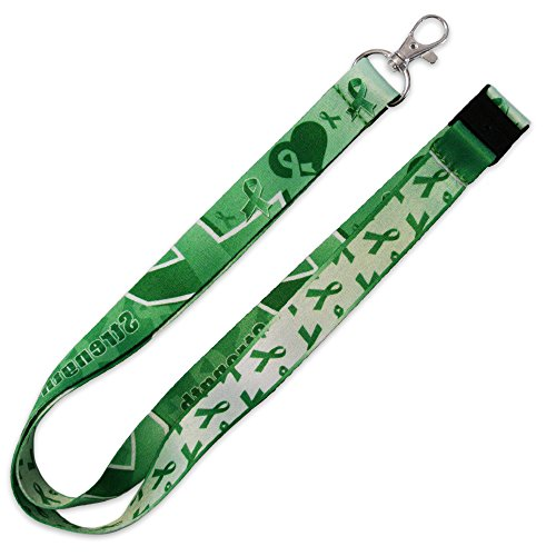 PinMart's Green Awareness Ribbon Hope Strength Courage Lanyard w/Safety Release ()