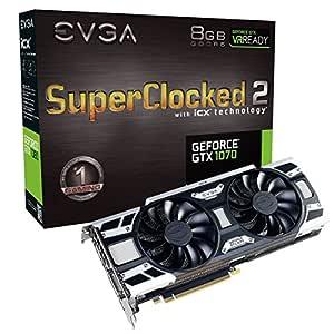 EVGA GeForce GTX 1070 SC2 Gaming, 8 GB GDDR5, tecnología iCX - 9 ...