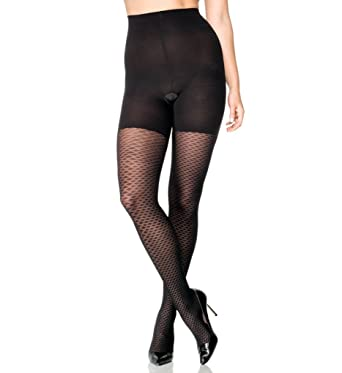 27ac2a739b1 SPANX ASSETS TEXTURED DIAMOND NET SHAPING TIGHTS  Amazon.co.uk  Clothing