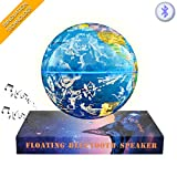 COLOCROWN Magnetic Levitation Floating Globe Roating Maglev Globe's Bluetooth Speaker Stereo Led Color Change Lamp For Christmas, Best Gift, Home ,Office ,Desk, Decoration (blue)
