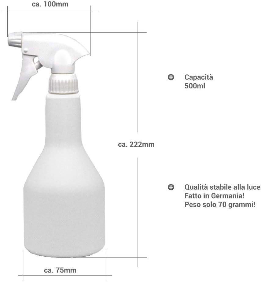 5 x 500 ml leere Spr/ühflasche Spr/ühflasche bef/üllbar Spr/ühkopf gl/änzend Nebelfunktion und feiner Spr/ühnebel