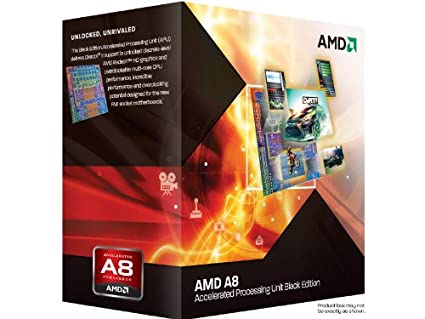 AMD A8-3870K APU with AMD Radeon 6550 HD Graphics 3 0GHz Unlocked Socket  FM1 100W Quad-Core Processor - Retail - AD3870WNGXBOX