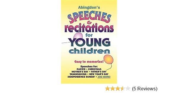 Amazon.com: Abingdon\'s Speeches & Recitations for Young Children ...
