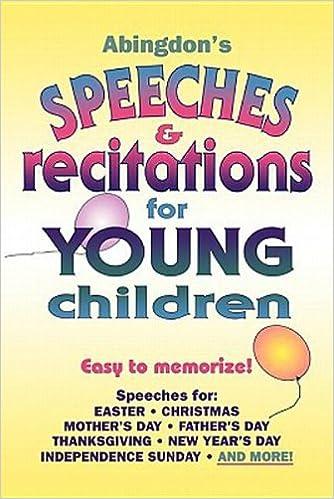Abingdons Speeches Recitations For Young Children