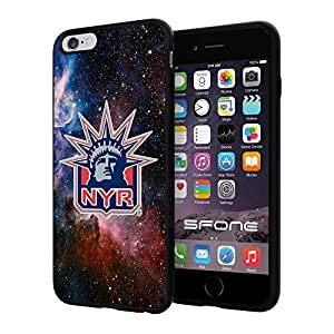 """New York Rangers Nebula #1824 iPhone 6 Plus (5.5"""") I6+ Case Protection Scratch Proof Soft Case Cover Protector"""