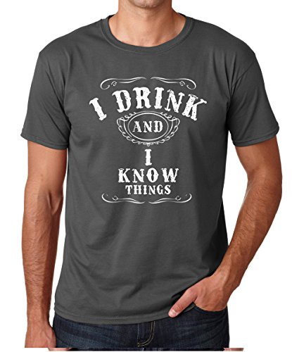 bb9c128288 Crazy Bros Tees I Drink and I Know Things - Funny Drinking Premium Men's T-