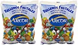 hard candies fruit flavored - Arcor Assorted Fruit Flavored Kosher Candy with Chewy Centers, Pack of 2