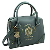 Harry Potter Purse Designer Handbag Hogwarts Houses Womens Top Handle Shoulder Satchel Bag Slytherin