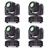 Eyourlife 4Pcs 10W LED Patterns DJ Stage Moving Head Light DMX512 Auto Stop For Club Party Show Lighting