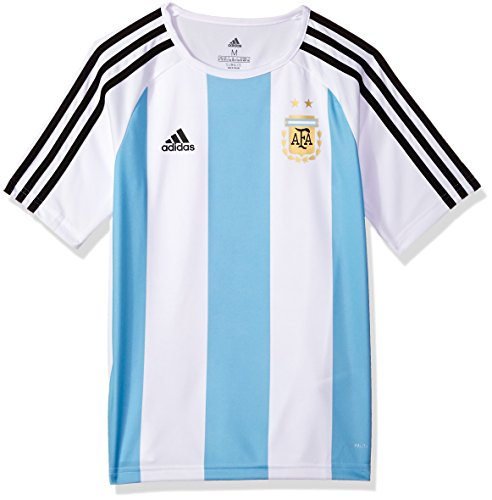 Polo World Cup - World Cup Soccer Argentina Youth Soccer Argentina Home Fanshirt, Large, White/Blue/Black