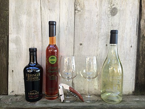 Heringer Estates Sweet Tooth Wine and Glasses Gift Pack