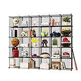 KOUSI Cube Organizer Cube Storage Storage Shelves Wire Cube Storage Origami Shelves Metal Grid Multifunction Shelving Unit Modular Cubbies Organizer Bookcase (30 Cubes)