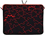 """DIGITTRADE LS110-15 Designer Notebook Sleeve 15,4"""" Laptop Cover Puzzle Neoprene Soft Carry Case up to 15.6 Inch Anti Shock System"""