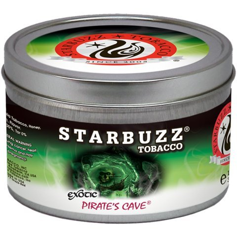 Pirates Caves 100g grams Starbuzz Tin Can Free S and L Male and Female Hookah Tips Sold By S and L Star Buzz by starbuzz